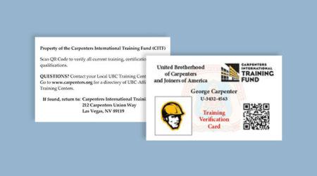 Training Verification cards TVC
